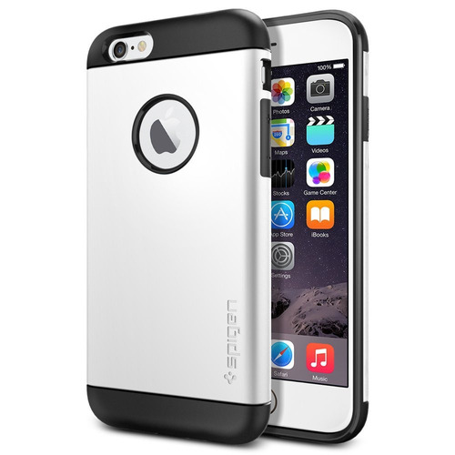 nueva carcasa original spigen slim armor iphone 6 6s blanco