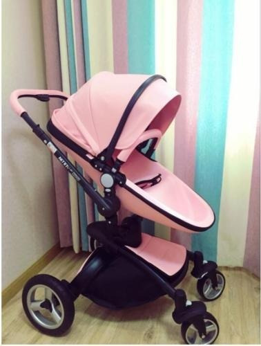nueva carriola bebe europea de piel 360 rosa no hot mom s/i