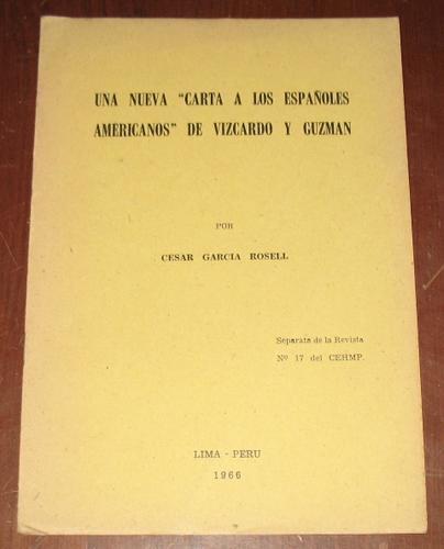nueva carta españoles americanos vizcardo y guzman - garcía