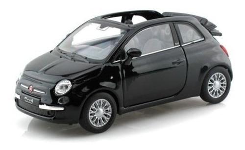 nueva colección 132 display welly - negro 2010 fiat 500c di