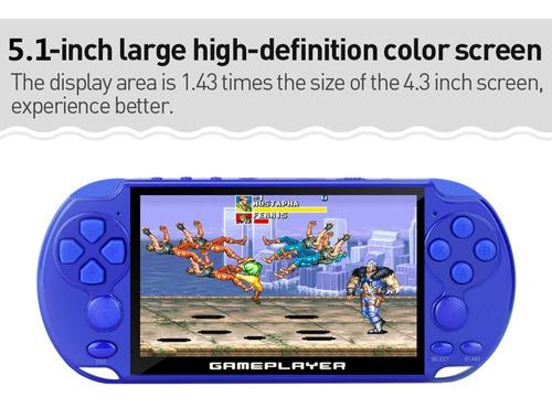 nueva consola de videojuegos retro de 5.1 pulgadas incorpora