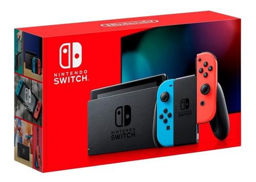 nueva consola nintendo switch neon 2019 batería extendida