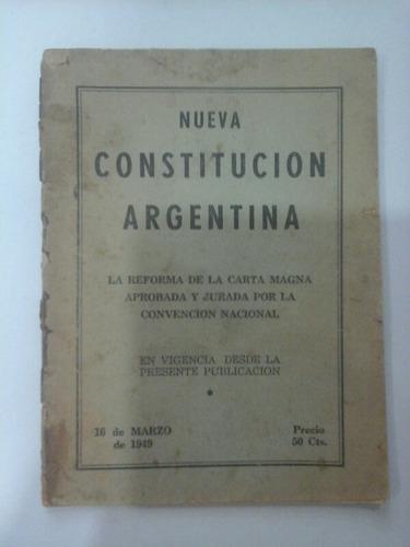 nueva constitución argentina - 16 de marzo de 1949