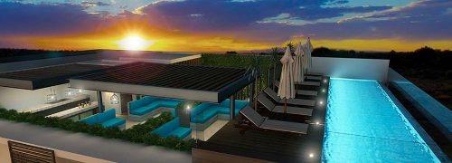 nueva construcción en la zona norte del centro de playa del carmen