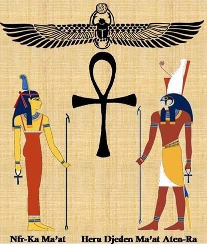 nueva cruz egipcia ankh,  acero - ansada - aton especial