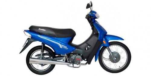 nueva cub moto keller crono 110 usb y baúl urquiza motos