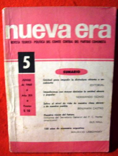 nueva era revista teórica y política partido comunista 1960