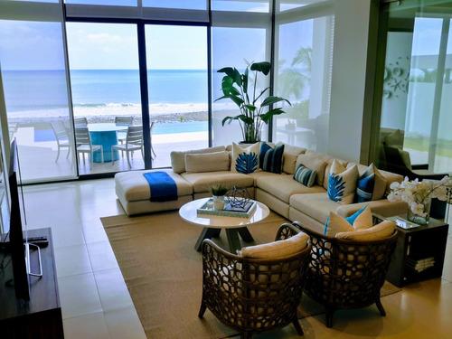 nueva! espectacular, lujosa propiedad frente al mar, piscina