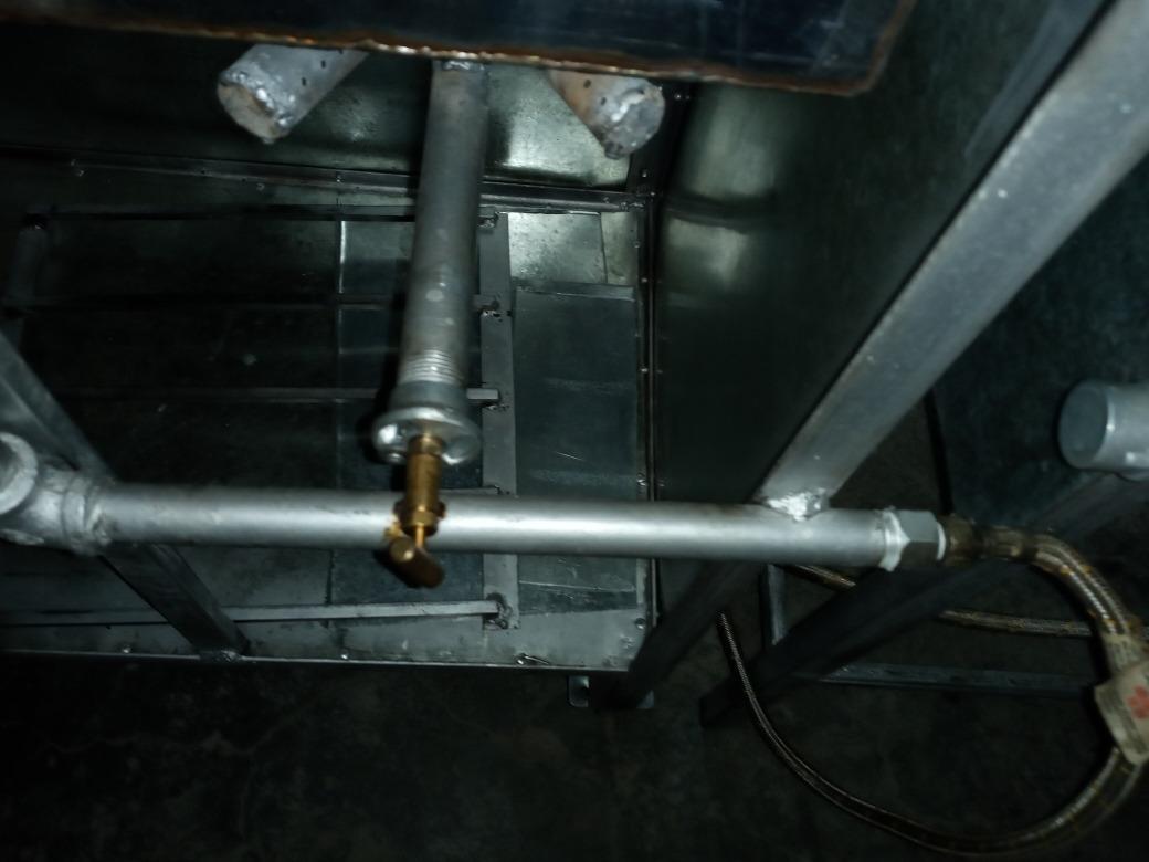 nueva estufa con 2 quemadores y freidora/1quemador adicional