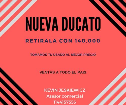 nueva fiat ducato 0km 2019 ambulancia maxicargo escolar *