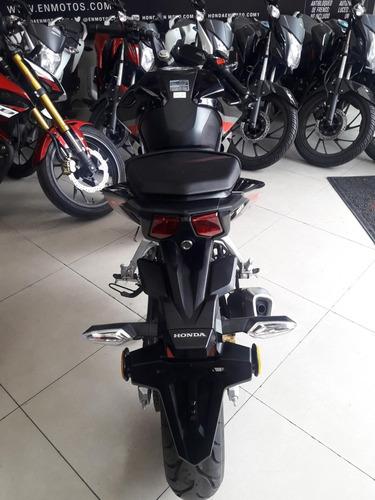 nueva!! honda cb190r modelo 2022 negra con estacionarias