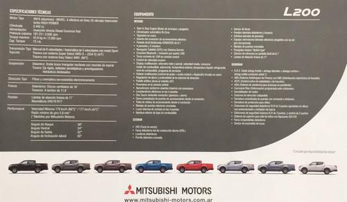 nueva l 200 di-d mitsubishi 30% anticipo y 36 cuotas fijas