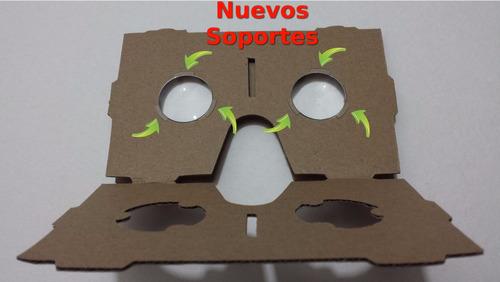 nueva lente google cardboard, 20unidades,d25mm*f45mm