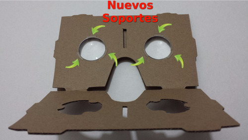 nueva lente google cardboard, un par,d25mm*f45mm