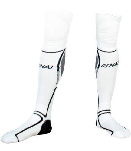 nueva linea de medias calcetas profesionales para portero modelo rinat classic blanco - mundo arquero