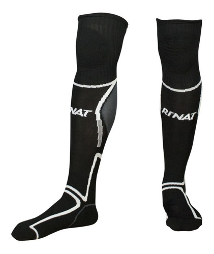 nueva linea de medias calcetas profesionales para portero modelo rinat classic negro - mundo arquero