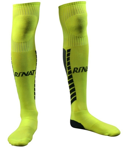 nueva linea de medias calcetas profesionales para portero modelo rinat geometric amarillo - mundo arquero