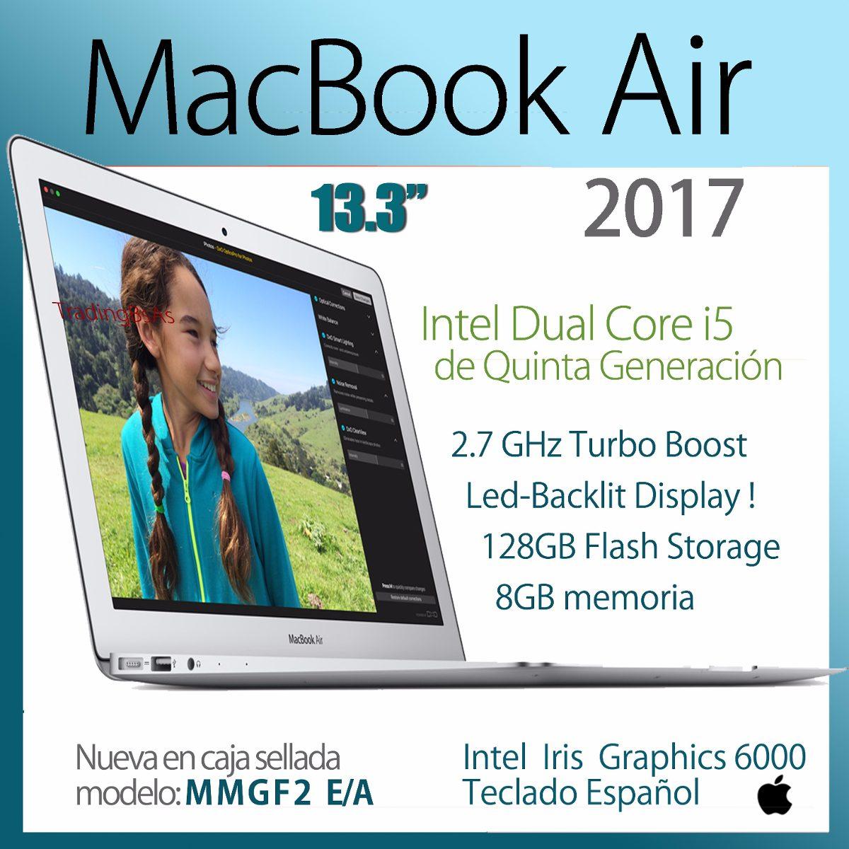 Nueva Macbook Air 2017 Mmgf2 Ea 13 Led Backlit 2999900 Apple Silver Cargando Zoom