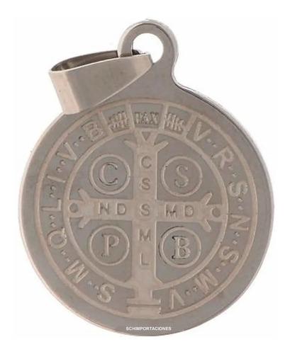 nueva medalla de san benito, + consagrada + acero - grande