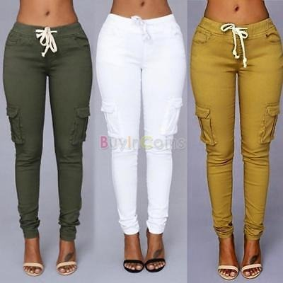 gran descuento 95ab2 be6b2 Nueva Moda Mujer Pantalones De Los Pantalones... (m/khaki)