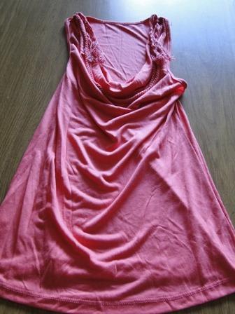 nueva!! musculosa rosada cuello bote con cuerdas