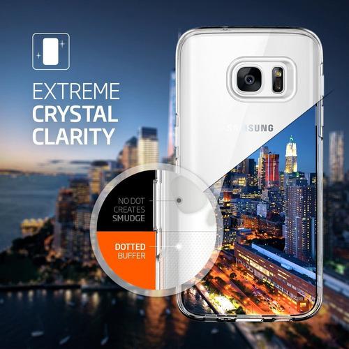 nueva original carcasa spigen liquid crystal samsung s7