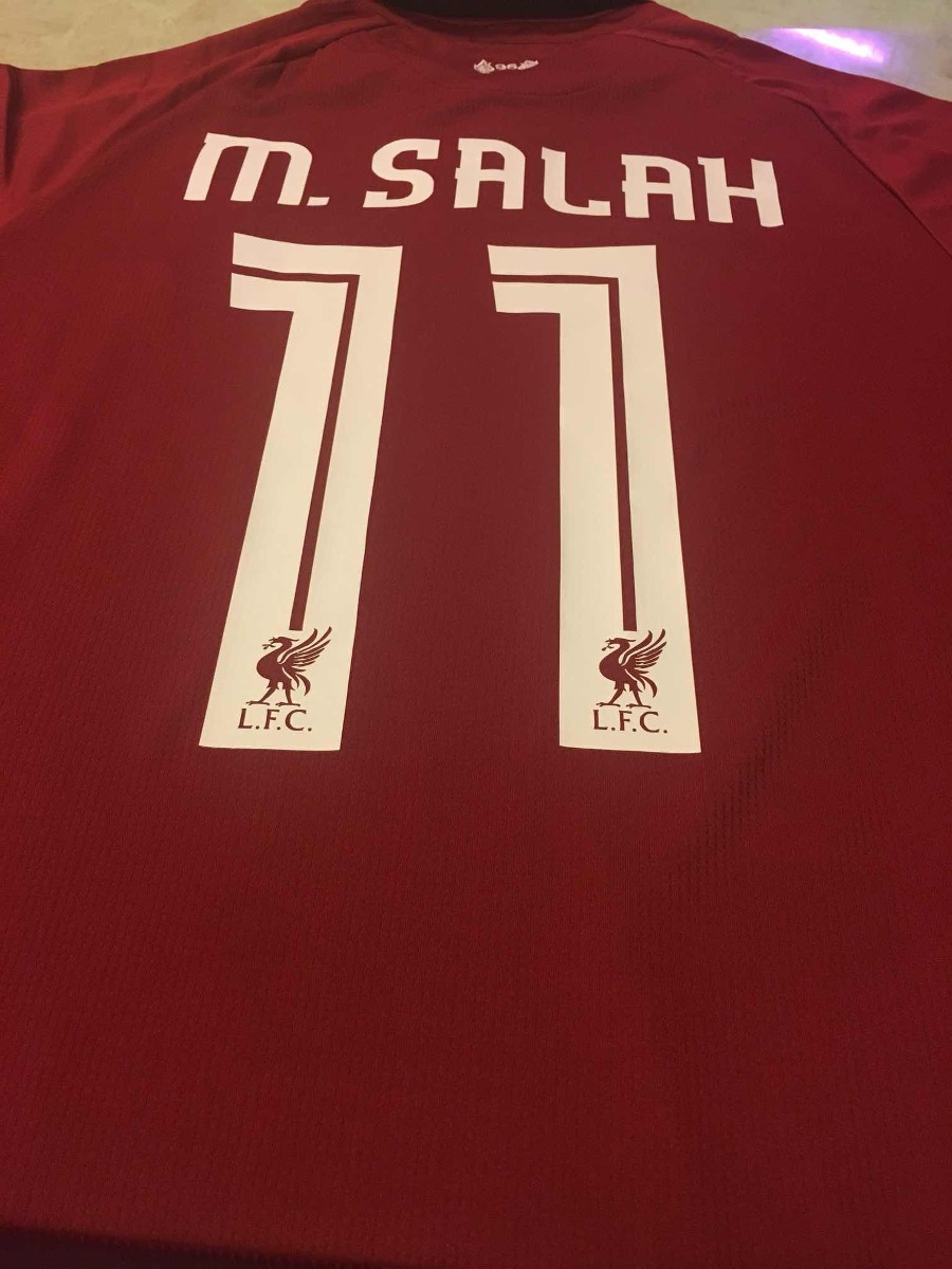 buy online 88fd4 f5474 Nueva Playera Jersey M. Salah #11 Liverpool 2018-2019
