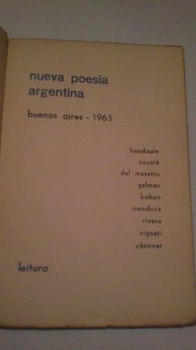 nueva poesía argentina gelman cousté dal masetto kohon otros