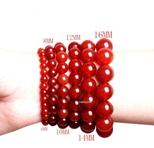 nueva pulsera de cornalina roja (india) exclusiva modelo 2