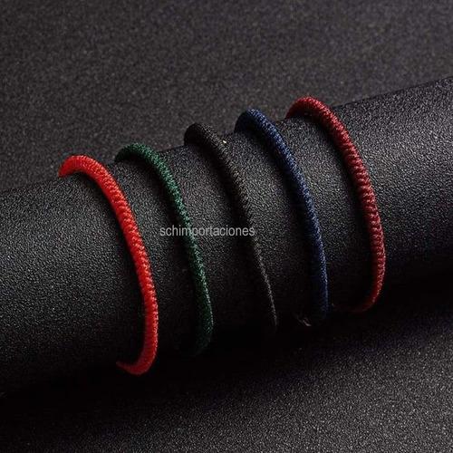nueva pulsera roja de la suerte - chacra muladhara - tibet