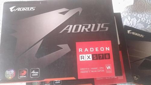 nueva remate tarjeta de video rx 570 aorus 4gb