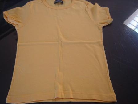 nueva! remera barroco amarilla, manga corta, t xl niña
