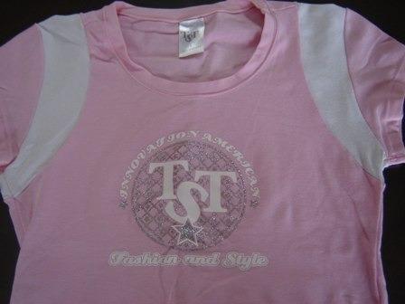 nueva!! remera en algodon y licra rosada, diviina!!
