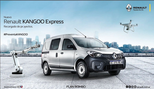 nueva renault kangoo 1.6 furgon ph3 confort 1plc 0km 2018