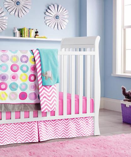 nueva rosa bebé niñas de 10 piezas de la cuna con ropa de ca