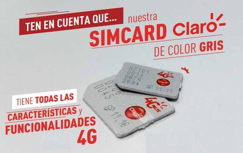 nueva simcard prepago claro 4g (1 unidad)