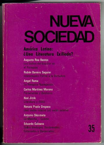 nueva sociedad nro 35, america latina/literatura
