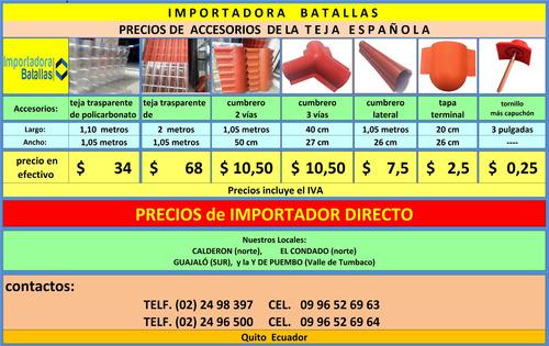nueva teja pvc española venta por metros policarbonato     l