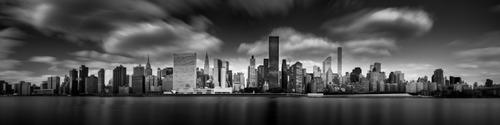 nueva york, blanco y negro cuadro decorativo lienzo canvas