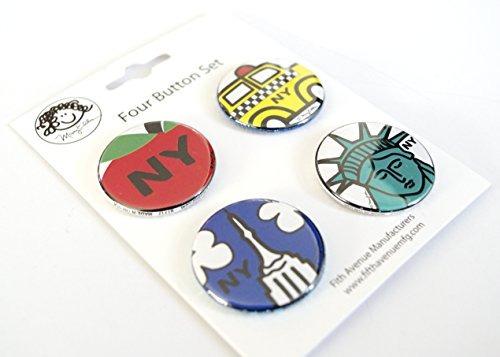 nueva york botones conjunto de 4 125 pulgadas ny city souven