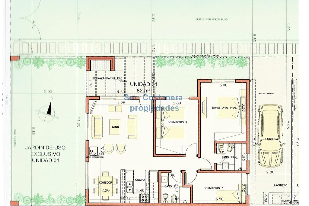 nuevas 3 casas  barra de carrasco prox parque miramar