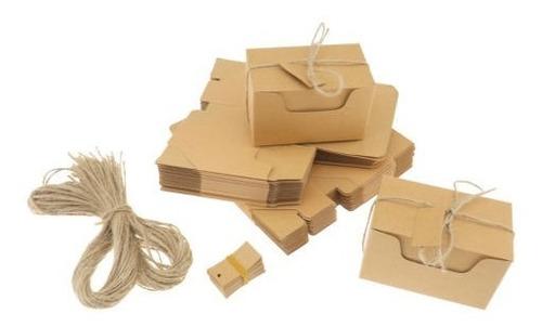 nuevas 50 cajas de regalo de papel kraft candy cake cookies