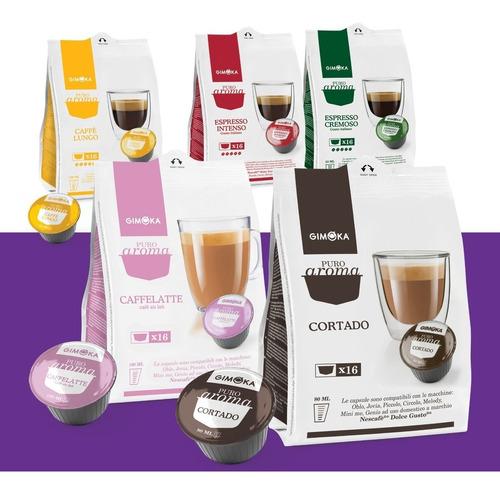 nuevas! 6 cajas cápsulas dolce gusto gimoka envío incluido