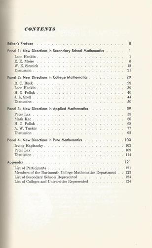 nuevas directrices en las matemáticas. varios autores.