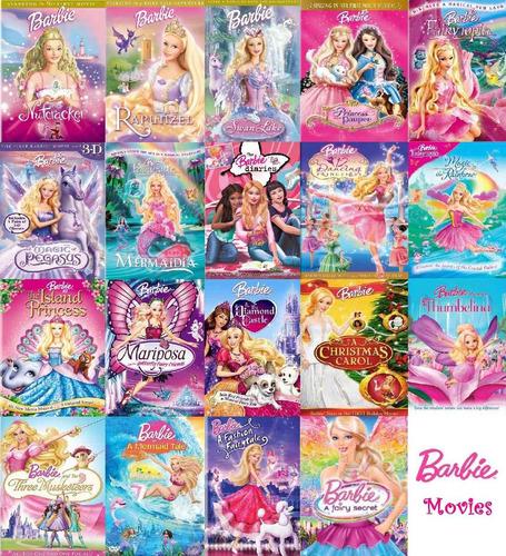 nuevas peliculas en dvd de barbie  la coleccion completa