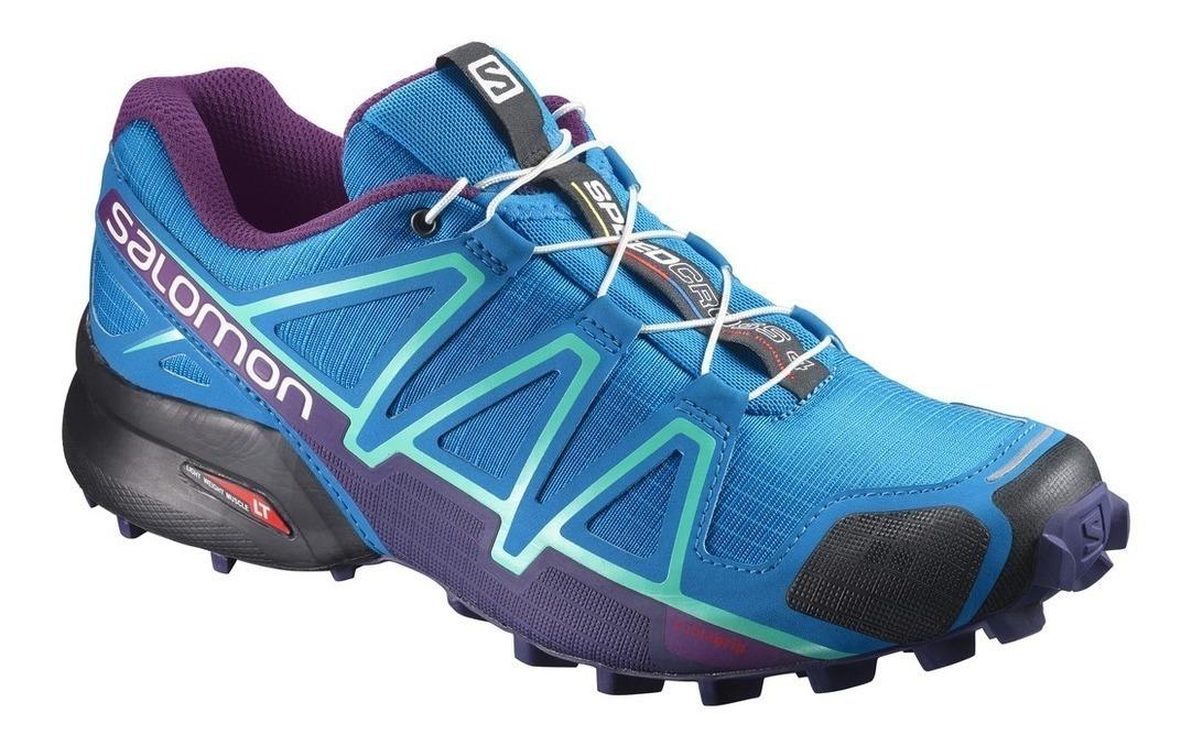 97e843a6 nuevas zapatillas salomon speedcross 4 w mujer turquesa lila. Cargando zoom.
