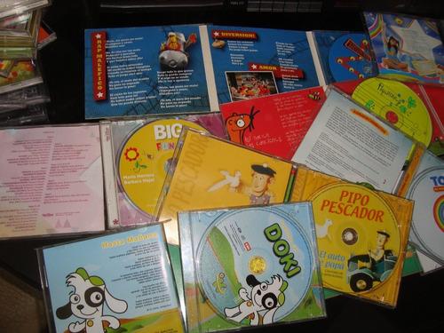 nueve cds infantiles todo el lote a $1300
