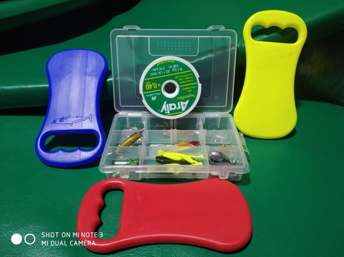 nuevo 75 sole kit pesca para 3 personas anzuelo plomocarnada