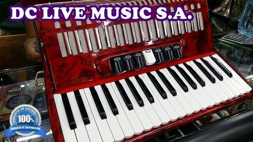 nuevo, acordeon scandall, de 80 bajos, 7 registros