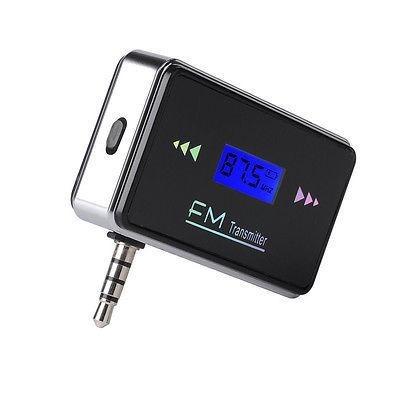 nuevo adaptador de 3.5mm fm transmisor radio pa-271576330217